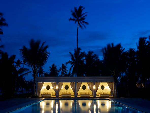 Baraza Resort and Spa - pool at night